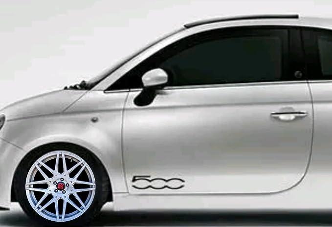 Fiat 500 2 X Door Vinyl Car Aufkleber Aufkleber Bonus Testaufkleber Estrellina Glückstern Gedruckte Montageanleitung Von Myrockshirt Waschanlagenfest Auto