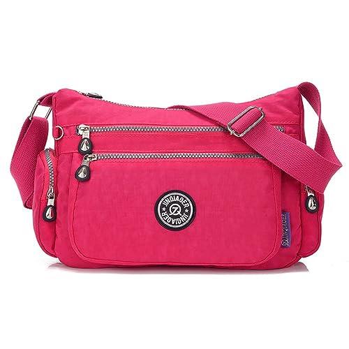 0732c988a JINQIAOER - Bolso al hombro de nailon para mujer, color Multicolor, talla:  Amazon.es: Zapatos y complementos