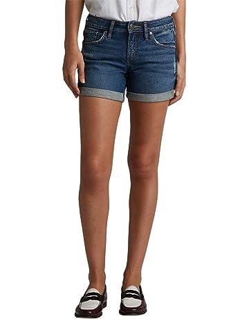 a258ab17880 Silver Jeans Co. Women's Mid Rise Boyfriend Shorts