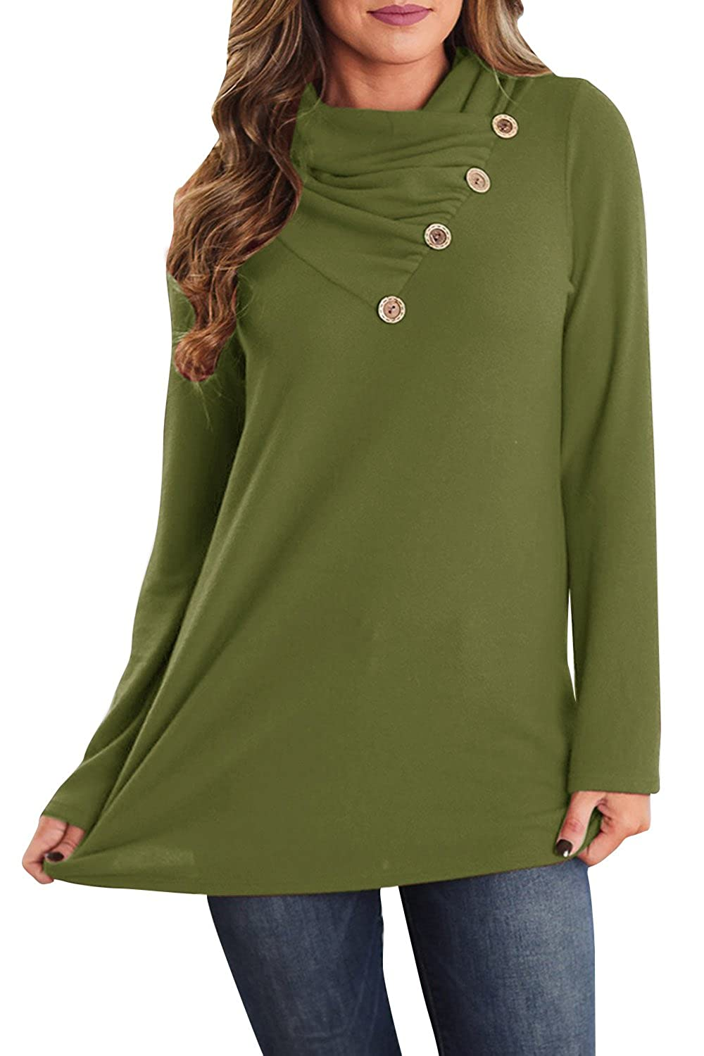 d44d156e261 Superior in material and excellent in workmanship, comfortable and warm for  daily wear. Unique design, chic and comfortable. Featuring long sleeve,  button ...