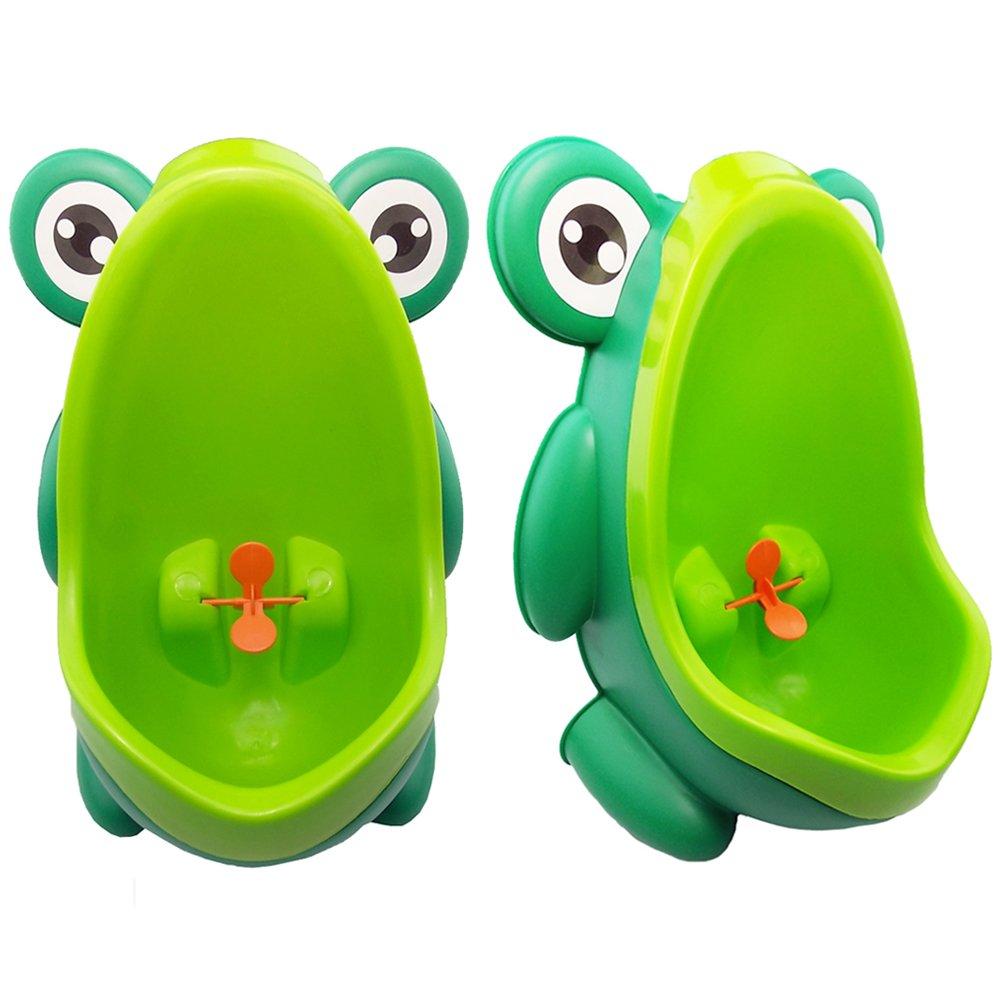 JJPRIME - Rana Niñ os Niñ os Orinal Formació n Aseo Niñ os Aim target molino soporte de pared urinario para los muchachos Pee Trainer bañ o verde Green Frog JJOnlineStore JJ Baby51204-205