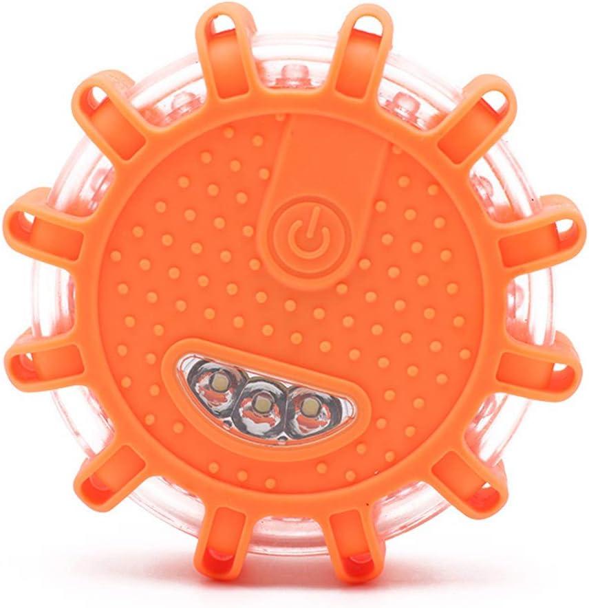 TaiRi Mini-LED-Stra/ßenfackeln Warnblinklichter am Stra/ßenrand Warnfackel mit magnetischem Notfall-Bremslicht f/ür Motorr/äder und Boote