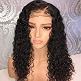 Newa Hair 13x6 Curly Lace Front Wig Pre Plucked Hairline Glueless Brazilian Lace Front Human Hair Wig With Baby Hair 150% Density 16inch