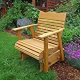 2' Cedar Porch Glider W/stained Finish, Amish Crafted