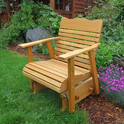 2' Cedar Porch Glider W/stained Finish, Amish Crafted by Kilmer Creek
