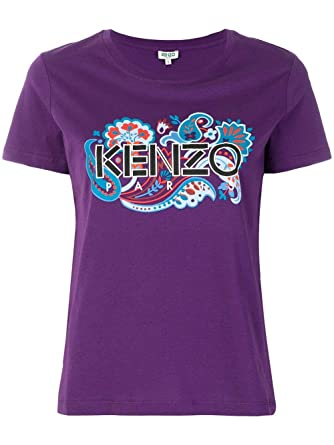55933a1628a1 Kenzo Women's F852TS74099083 Purple Cotton T-Shirt at Amazon Women's  Clothing store: