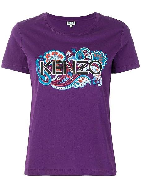 Kenzo Mujer F852TS74099083 Morado Algodon T-Shirt: Amazon.es: Ropa y accesorios