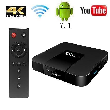TX3 Mini TV Box Android 7 1, 1G RAM 16G ROM 4K Ultra HD WiFi 2017 Wingogo  Smart Tv Box (1GB+16GB)