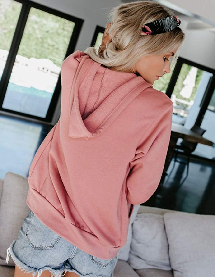 Aitos Hoodies Damen Pullover Kapuzenpullover Sweatshirt Pulli Zweifarbige Longsleeve Tops Doppelte Kapuzenpulli Casual