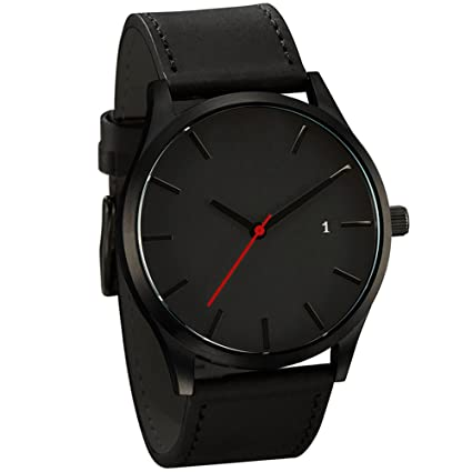 Popular Low-key Minimalist Connotation Leather Mens Quartz Wristwatch,Outsta Gift Watches Round Case