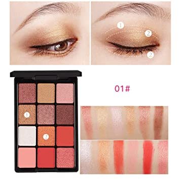 Amazon com : Ofanyia 12 Colors Eyeshadow Palette With Mirror