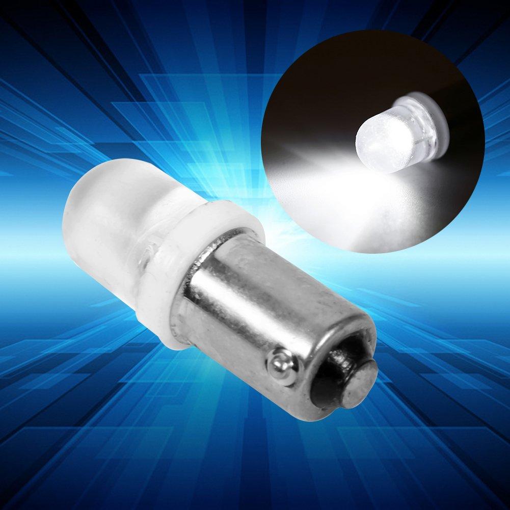 Dashboard Light Bulbs 20Pcs T11 T4W BA9S H6W 1895 Convex 1LED Auto Car LED White Light for Dashboard
