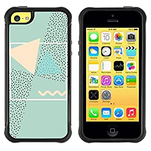 "Hypernova Defender Series TPU protection Cas Case Coque pour Apple iPhone 5C [Arte Abstracto 90'S Rosa Verde""]"
