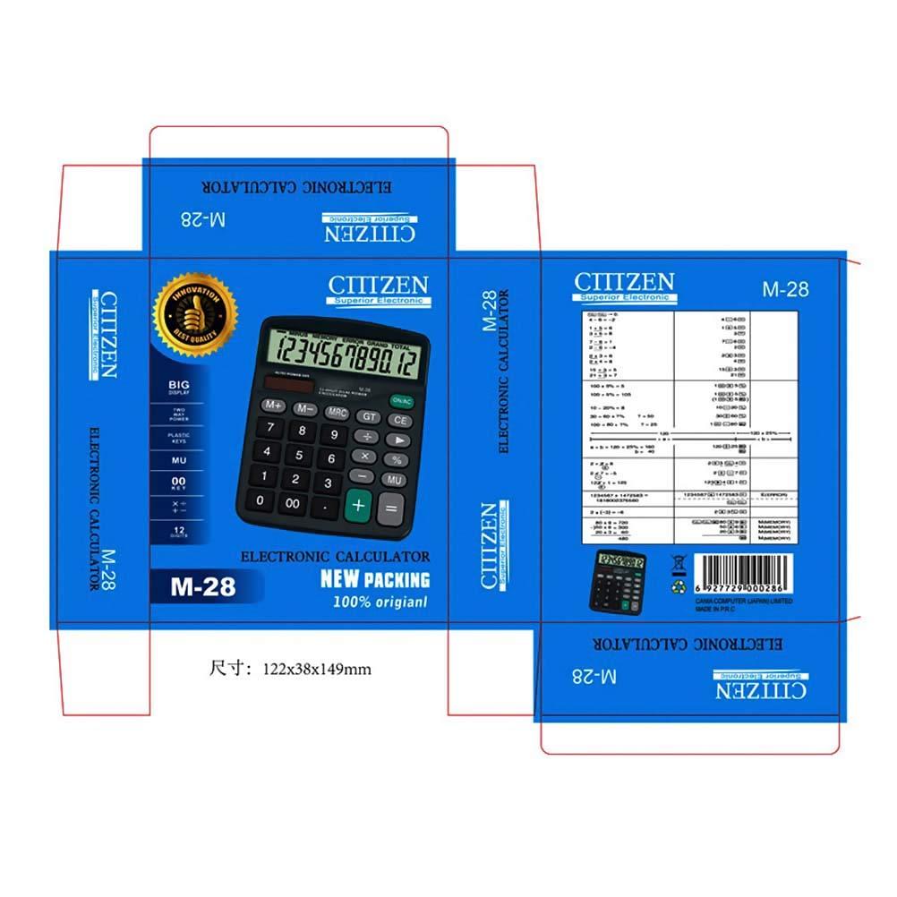 Calcolatrice Desktop Standard Funzione Standard Calcolatrice Desktop Calcolatrice da Ufficio Calcolatrice Solare e Batteria Calcolatrice Desktop con Ampio Display Bweele Calcolatrice