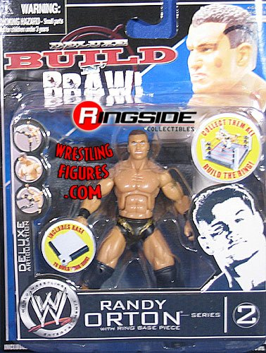 RANDY ORTON - DELUXE BUILD N' BRAWL 2 WWE TOY WRESTLING ACTION FIGURE (3.75'' TALL) by Jakks