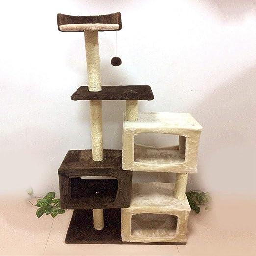 TIKAHOME - Árbol para Gatos, diseño de Torre de Gato y Cubo con ...