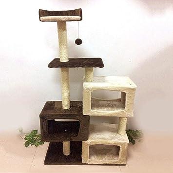 TIKAHOME - Árbol para Gatos, diseño de Torre de Gato y Cubo con Poste rascador