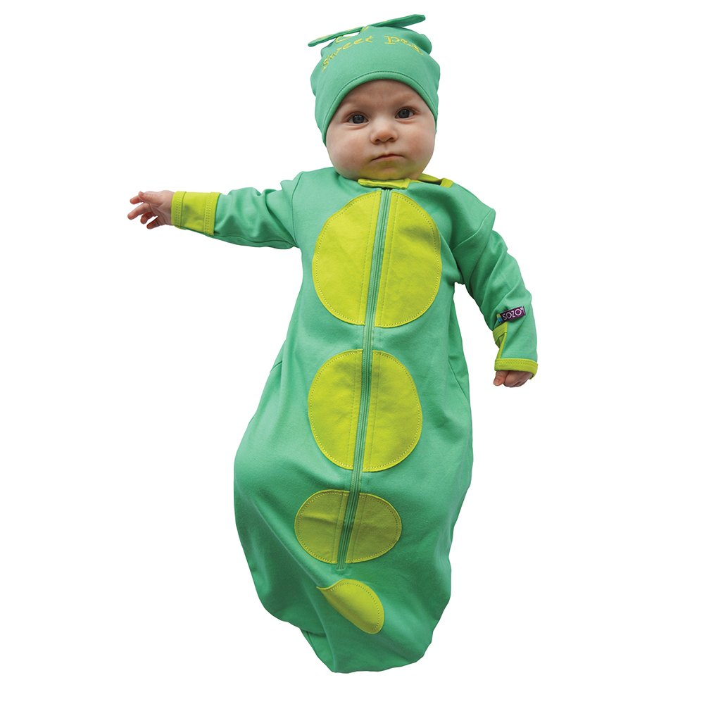 Sozo Baby Boys Green Sweet Pea Applique Cotton Cap Bunting Outfit 0-6M Green/Lime One Size 1-Pack BUNT07