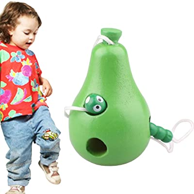 YiShi-US Toy Wooden Toys Threading Caterpillars Eat Pear Novelty Funny Educational Wood Toys (Color : Color1): Home Improvement