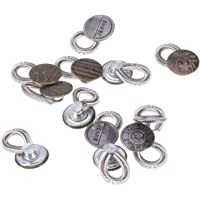 Supvox 12pcs Botón de pantalón de Metal Extender