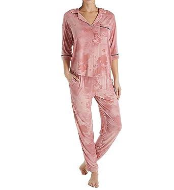DKNY Modern Dream Pajama Set (2919304) L Powder Distressed Flor at Amazon  Women s Clothing store  8e2a595f3