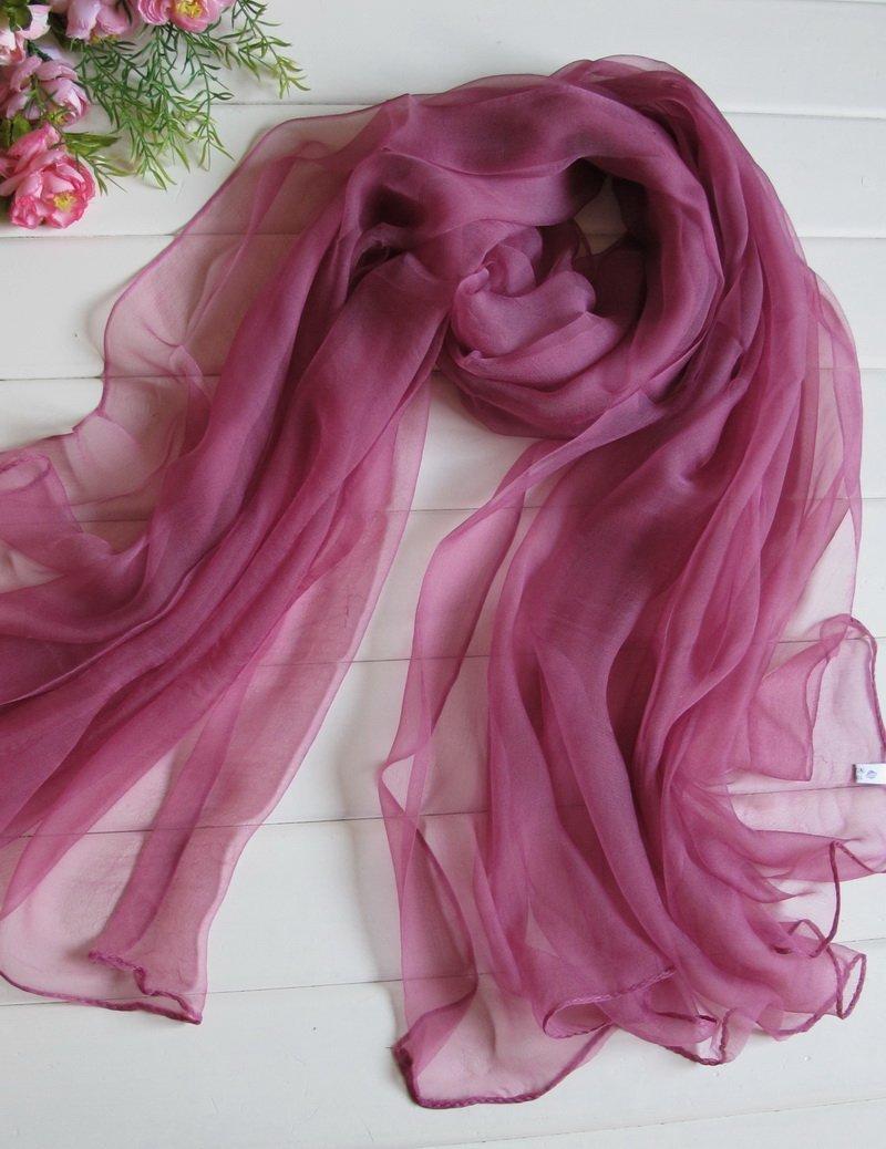 DIDIDD Bufanda: una larga sección de pañuelos de seda pura bufanda de seda chal playa de verano,S