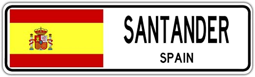 YelenaSign Santander - Señal de Calle de España, Bandera de ...