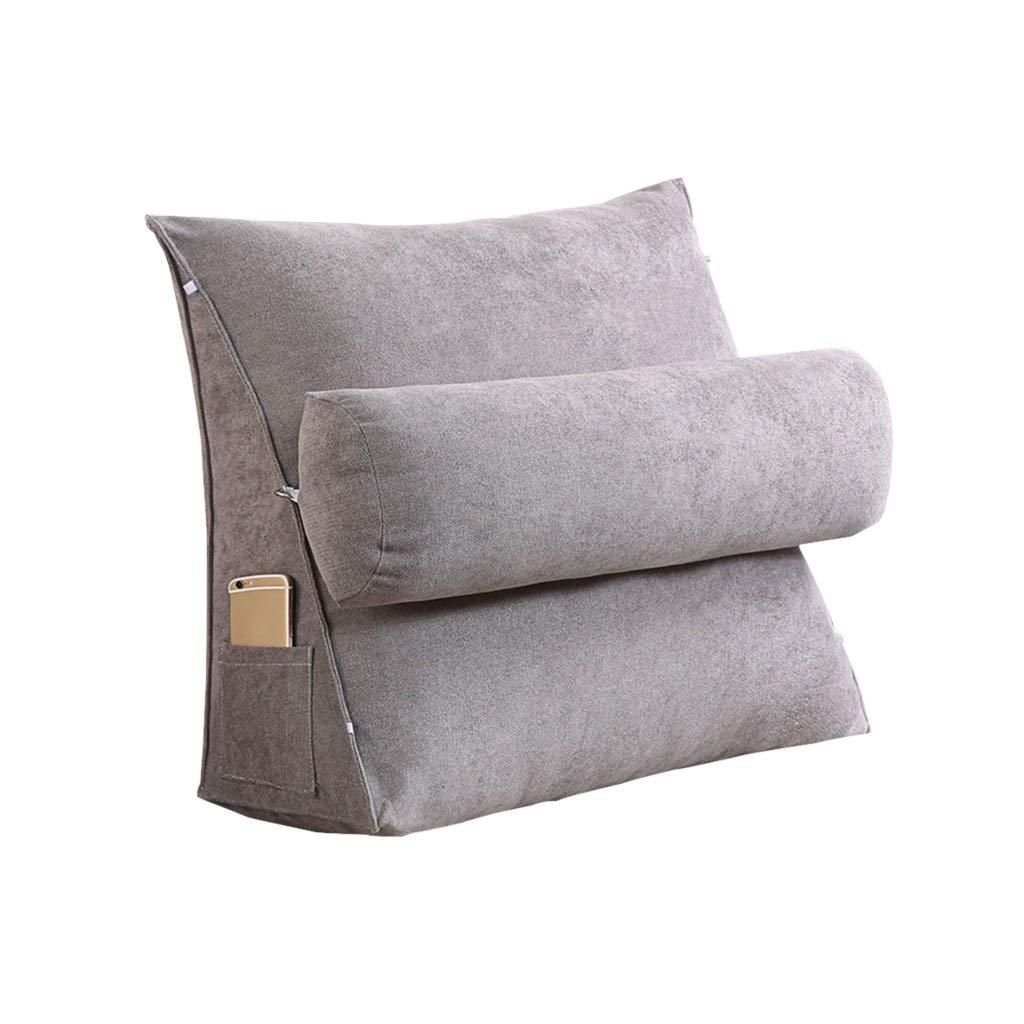 DUHUI Bed Wedge, Wedge für Wohnzimmer und Schlafzimmer, Sleeping Wedge, um die Wirbelsäule zu entlasten Pill Stillkissen fürs Liegen und Sitzen (Farbe : Dunkelgrau, größe : 45x45x20cm)