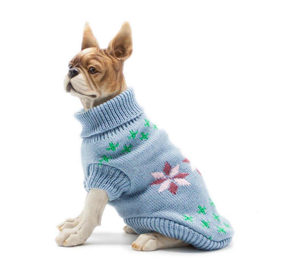 Pet suéter engrosamiento mascota de punto ropa de perrito chaleco ...