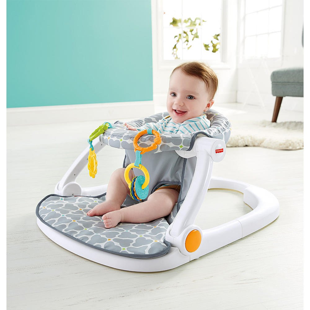 Amazon.com : Fisher-Price Sit-Me-Up Floor Seat - Silver Platter ...