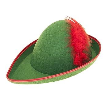 e9392933f58 Hat Felt Robin Hood for Fancy Dress Party Accessory  Smiffys  Amazon ...