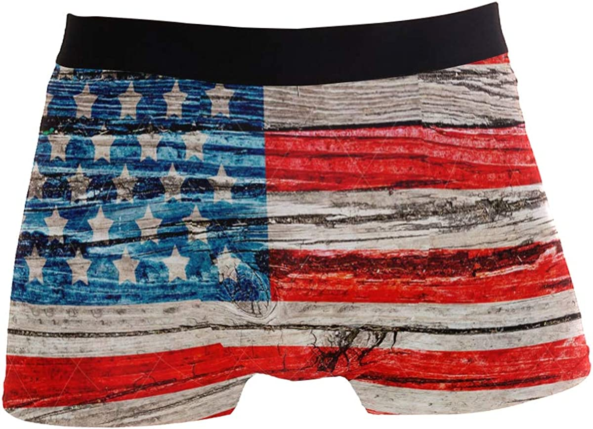 SLHFPX Boys Boxer Briefs American Flag Union Jack Soft Underpants Bikini Low Rise Trunks Underwear