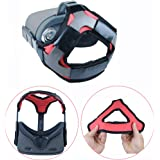 Esimen (Upgrade) Head Strap Pad for Oculus Quest Virtual Reality VR Headset Cushion Headband Fixing Accessories, Comfortable PU Leather & Reduce Head Pressure (Red)