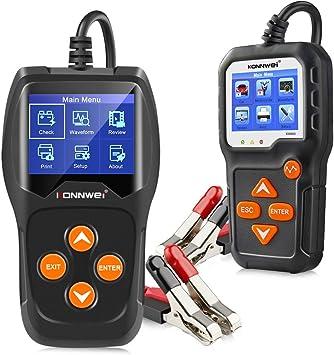 KW600 KONNWEI Professioneller Autobatterietester G8N5 mit Anlasssystem