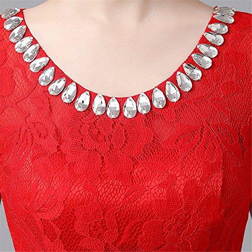 Rosso Mujer Trapecio Vestido Para Drasawee 7FBaww