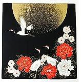 FUROSHIKI- Japanese Traditional Wrapping (Moon and Crane)