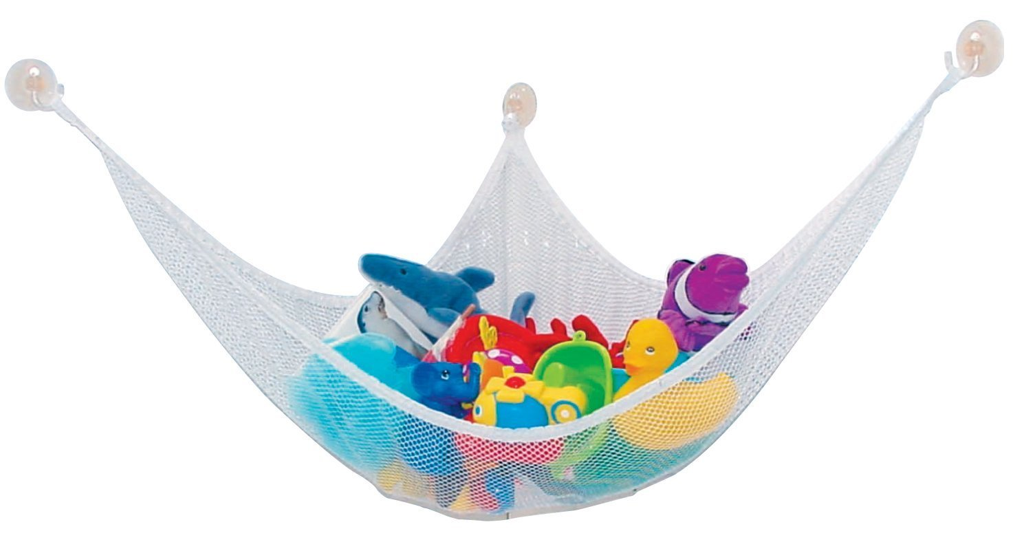 Accmart Spielzeughängematte Spielzeugnetz Drei Ecke Netz Kinderzimmer Toy Organizer Für Spielzeug Aufbewahrung 140*90*90cm Weiß