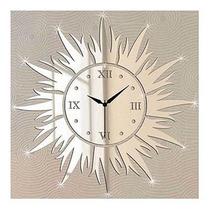 DIY Specchi Orologi da Parete Personalità Sun Personalizzati Sveglia ...