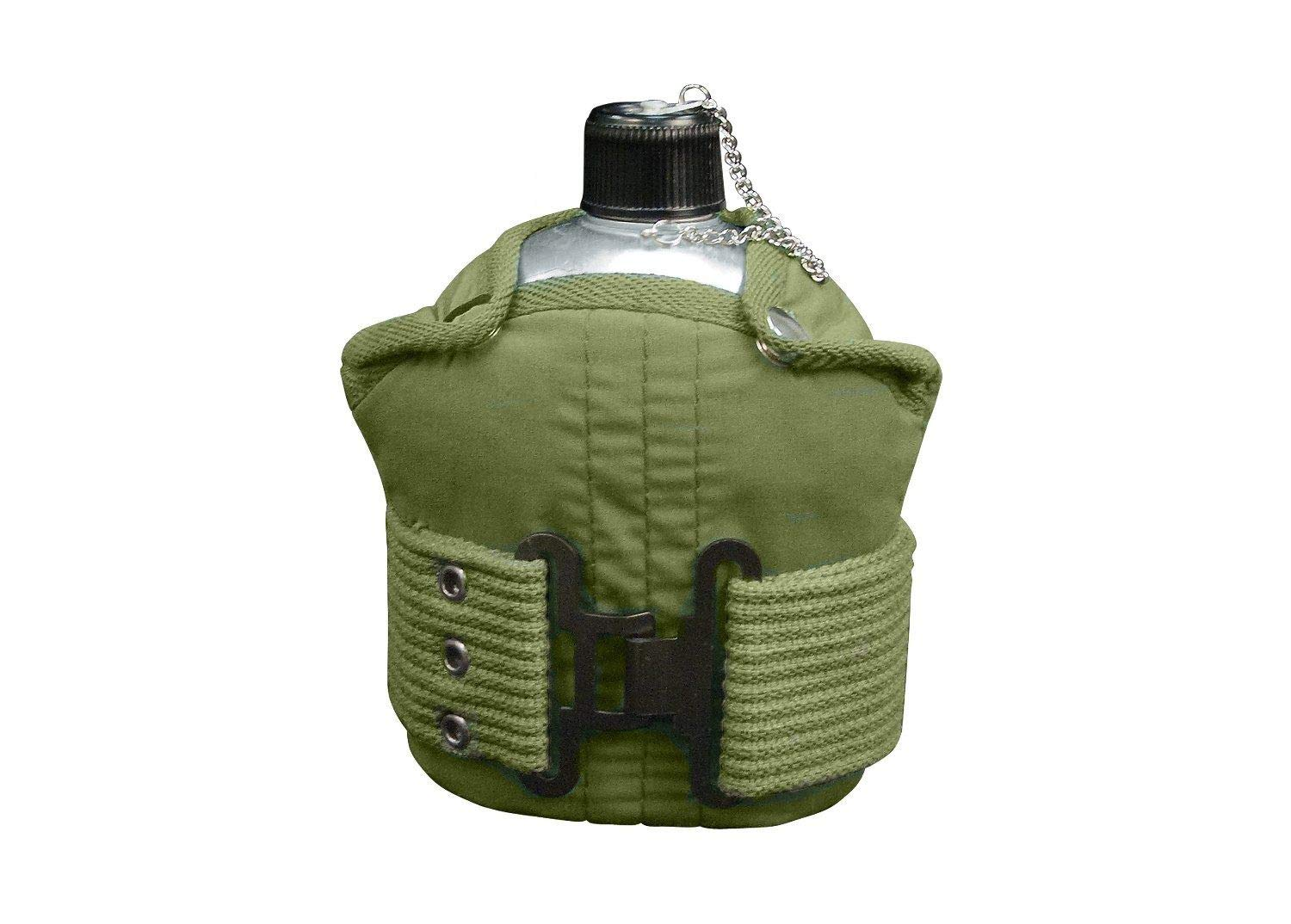 CAO outdoor product 1 Quart Aluminum Canteen with Olive Drab Pistol Belt Kit