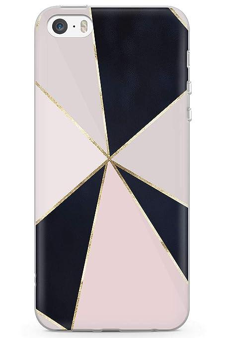 Amazon Com Case Warehouse Iphone 5 Case Iphone 5s Iphone Se Fashion Designer Black Pink Geometric Phone Case Clear Ultra Thin Lightweight Gel Silicon Tpu Protective Cover Cute Pink Geometric Girls Mini