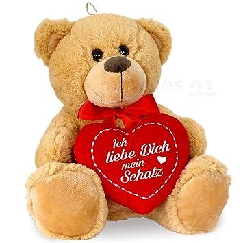 Matches21 Teddybar Mit Herz Herzteddy Ich Liebe Dich Mein