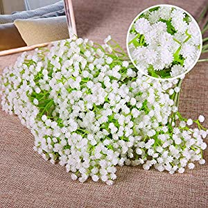 MARJON Flowers4 Pack Artificial Flowers Gypsophila Baby's Breath Fake Flowers for Home Wedding Bridal Bouquet Party DIY Decorations Plant White 104