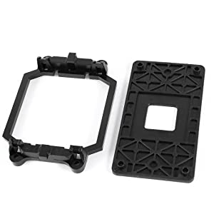 uxcell a13121900ux0265 a13121900ux0265 AMD Plastic CPU Fan Stand Bracket Base Black with Four Screws for AM2 AM3 Socket, Plastic