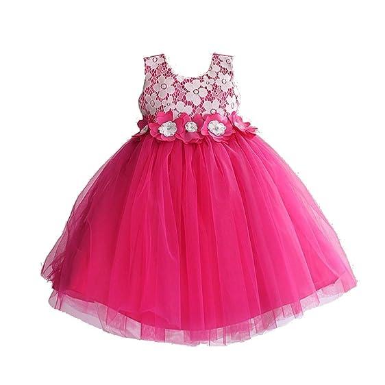 Amazon.com: Aurora Bridal Princess Dress Girls Wedding Dress Kids ...
