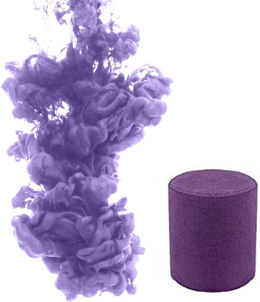 Pastel de Humo 6 Colores Redondo Accesorios de fotografía Escenario de Cine Efecto de etapa Fiesta Efecto de humo del arco iris Accesorios de tiro Necesidades de fotografia (L, Purple)
