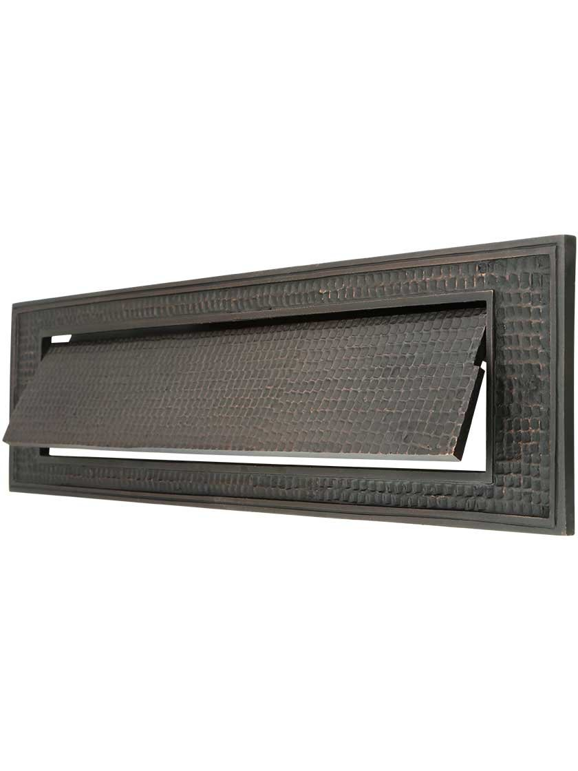 Large Bungalow Mail Slot with Plain Front Plate