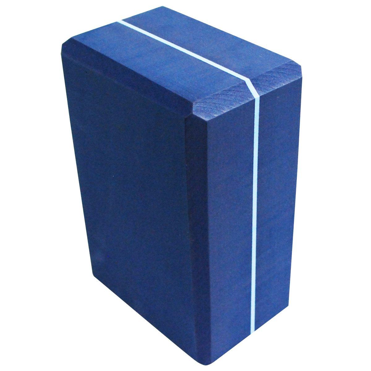 Blue, 4X6X9-Inch A241BLKBLUS4 Yoga Direct Striped Foam Block