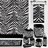 zebra fabric shower curtain - DS BATH Zebra Shower Curtain,Mildew Resistant Polyester Fabric Shower Curtain,Print Shower Curtains for Bathroom,Contemporary Decorative Waterproof Bathroom Curtains,72