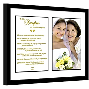 Amazon.com: Daughter Wedding Gift - Mother to Daughter Poem ...