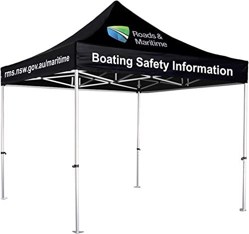 UNIQ SIGNS 10x10 Premium Pop up Canopy Commercial Tent Imprinted Fair Vendor Tent with Your Logo